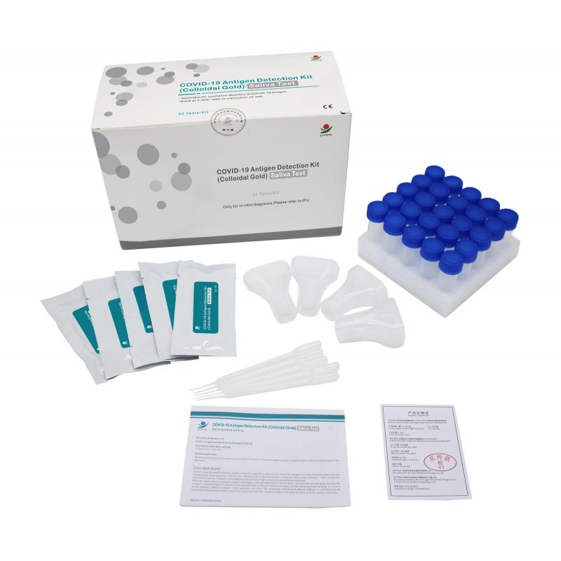 Antygenowy test na COVID-19 w ludzkiej ślinie